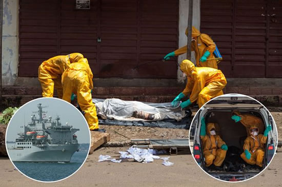 UK joins world to tackle ebola in West Africa: Photo: MoD