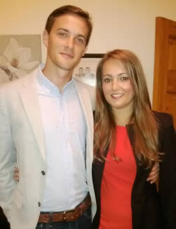 VICTIM: Oliver Dearlove and his girlfriend Photo Credit: Met.